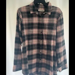 Madewell Ruvet and thread plaid flannel shirt